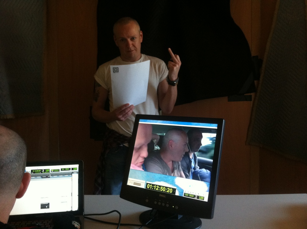 Craig Conway recording ADR for The Stagg Do