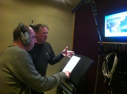 Pob and James in the Stagg Do ADR booth