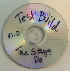 Photograph of The Stagg Do Test Build DVD